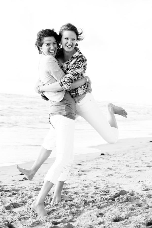 strand vriendinnen