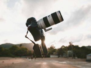 Spiegelreflexcamera Fotoshoot